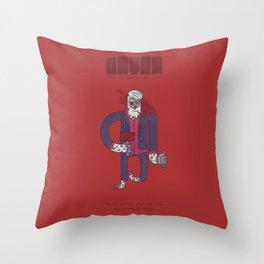 Anton, The Valentine's Yeti Throw Pillow