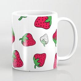 Strawberry heart print pattern design. Coffee Mug