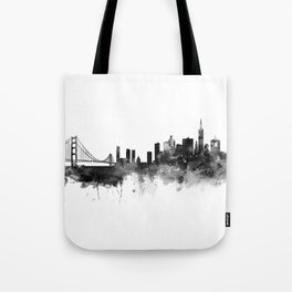 San Francisco Black and White Tote Bag