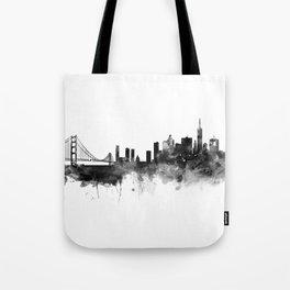 San Francisco Black and White Tote Bag