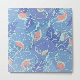 Blue Tropicana Metal Print