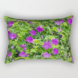 "TRUE SPECIE HARDY GERANIUM ""TINY MONSTER"" Rectangular Pillow"