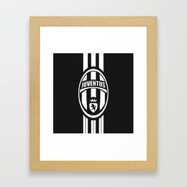 Juventus Flat Design Framed Art Print