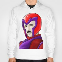 magneto Hoodies featuring Magneto Tesla by Aghko