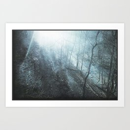 The Faded Day - surreal landscape photography Art Print