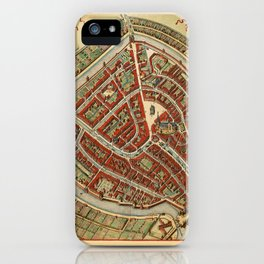 Map Of Gouda 1650 iPhone Case