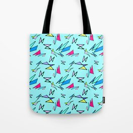 Wacky 80s//BLUE//Geo Pattern #3 Tote Bag