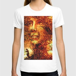 A flower is beautiful only on its tree. T-shirt