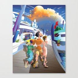 Boat Show Illustration Canvas Print