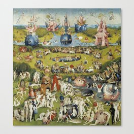 THE GARDEN OF EARTHLY DELIGHT - HEIRONYMUS BOSCH Canvas Print