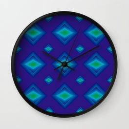 Azul electrico Wall Clock