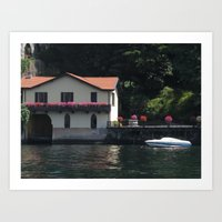Cottage on Lake Como, Italy Art Print