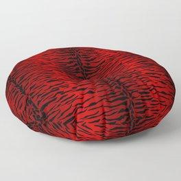 Punk Rock Metallic Red Tiger Floor Pillow