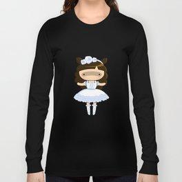 Shiro Lolita Raccoon Long Sleeve T-shirt