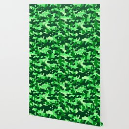 Camouflage (Green) Wallpaper