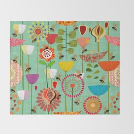 WHERE THE BEES FLY Throw Blanket