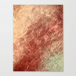 Crystallized Copper Trails Canvas Print
