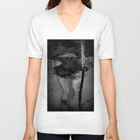 wave V-neck T-shirts featuring wave by habish
