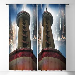 Shanghai - Oriental Pearl Tower Blackout Curtain