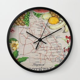 Vintage Tropical Queensland  Wall Clock