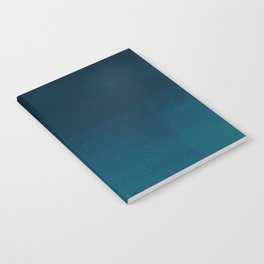 Navy blue teal hand painted watercolor paint ombre Notebook