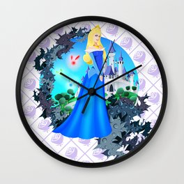 Team Blue Dress Wall Clock