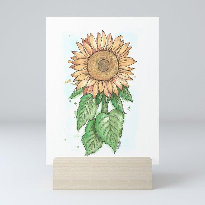 Cheerful Sunflower Mini Art Print