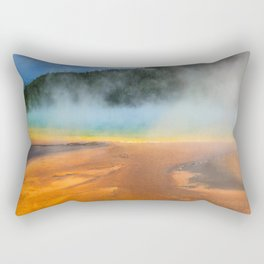 Yellowstone National Park Grand Prismatic Spring Nature Photography Rectangular Pillow