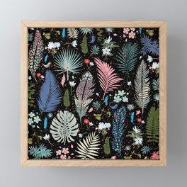 Magic Garden / Floral Pattern Framed Mini Art Print
