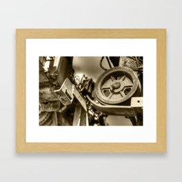 Coffee Combine Cog Framed Art Print