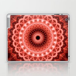 Mandala in deep red tones Laptop & iPad Skin