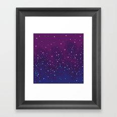 Bi Pride Flag Galaxy Framed Art Print