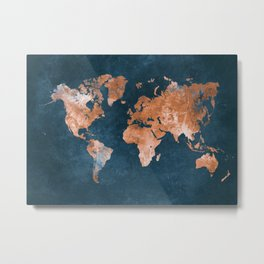 world map 15 Metal Print