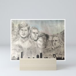 New England Mount Rushmore Mini Art Print