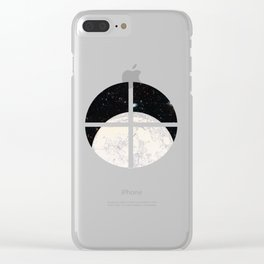 Moon machinations Clear iPhone Case
