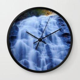 Crabtree Falls at Golden Hour Wall Clock