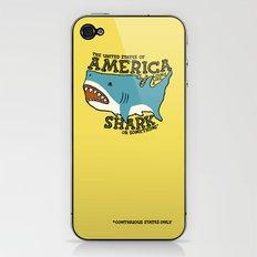 America…   it kinda looks like a shark or something iPhone & iPod Skin