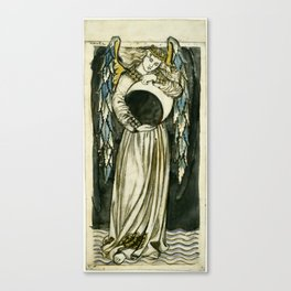"William Morris ""Night: Angel Holding a Waning Moon"" Canvas Print"