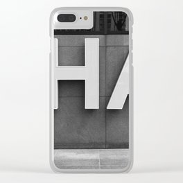 Ha - Typography Print Clear iPhone Case