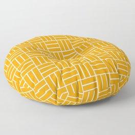 Basketweave (White & Orange Pattern) Floor Pillow