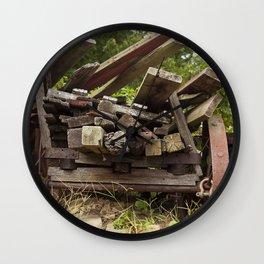 Reclaimed Woodpile Wall Clock