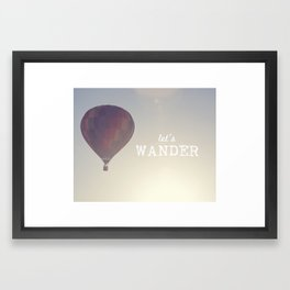 let's wander Framed Art Print