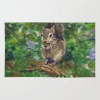 squirrel Area & Throw Rugs featuring Squirrel by gretzky