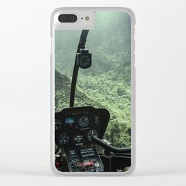 Helicopter Pilot's View Clear iPhone Case