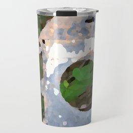 Battered Metal Birdhouse Travel Mug