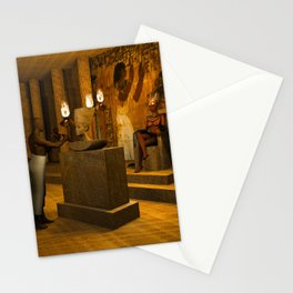 The creation of Queen Nefertiti's bust Stationery Cards