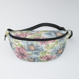 Hibiscus Vintage Pattern Fanny Pack