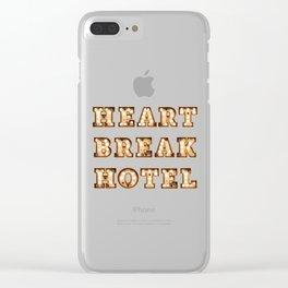 HeartBreak Hotel Clear iPhone Case