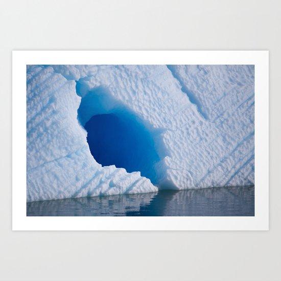 Blue Tunnel Art Print