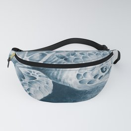 Sea Turtle Blue Watercolor Brushed Edge Fanny Pack